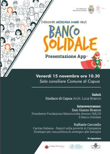 Capua. Venerdì ore 10.30: presentazione dell'APP del Banco Solidale al Palazzo Comunale - Capuaonline.com