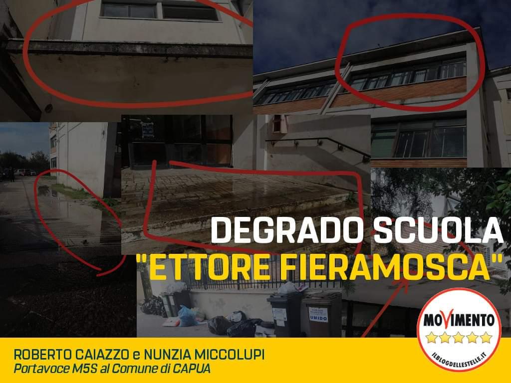 Capua. L'M5S ed il degrado nei plessi scolastici cittadini. Segnalazioni inascoltate... - Capuaonline.com